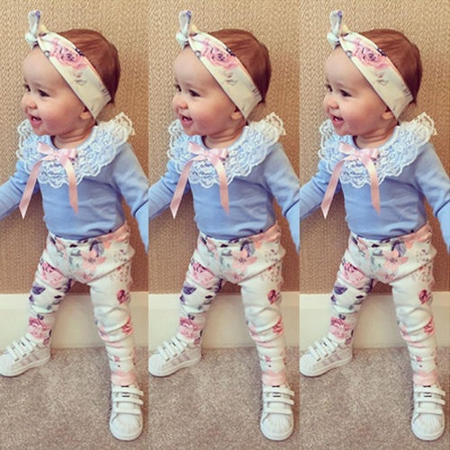 childrenclothesset, long sleeve blouse, Lace, pants