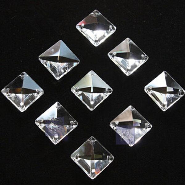 clearsquarecrystal, Square, squarecrystal, Chain
