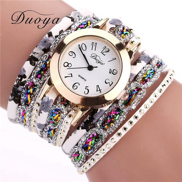 women watches, quartz, Jewelry, leather strap