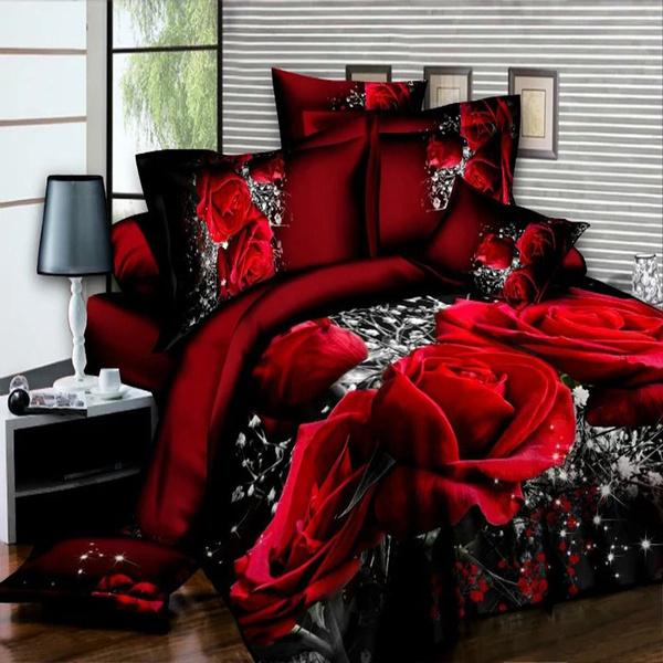 3doilprintingbeddingset, Sheets, cheapbeddingset, bedquiltcoverset