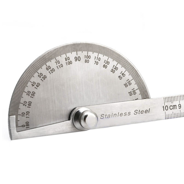 Stainless Steel 0-180 Protractor Angle Finder Arm Rule Measure