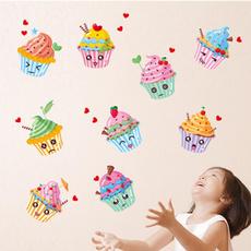 Beautiful, Home Decor, Stickers, cupcake