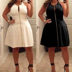 Sleeveless dress, Plus Size, Necks, Cocktail