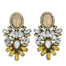 shouroukearring, Flowers, vintage earrings, zirconstudearring