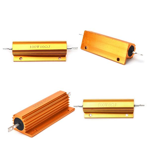 1//2//4//8//10 Ohm 100W Watt Shell Power Aluminum Housed Case Wirewound Resistor k`