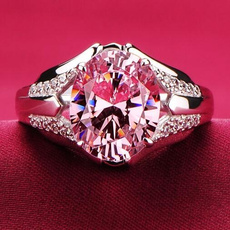 Sterling, pink, Joyería, pink sapphire