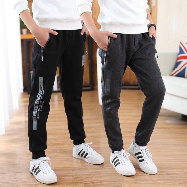 Boy, sport pants, letter print, Casual pants