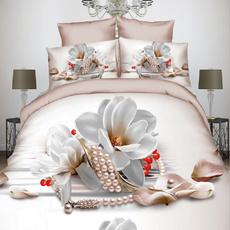 case, comforterbeddingset, Flowers, bedclothe