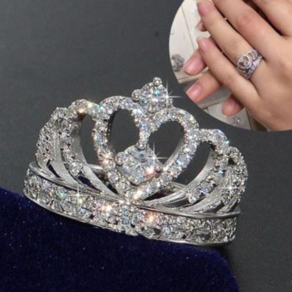 Heart, DIAMOND, 925 sterling silver, 925 silver rings