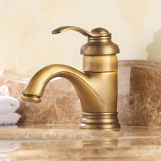 Brass, Antique, bathroombasinfaucet, Home & Living