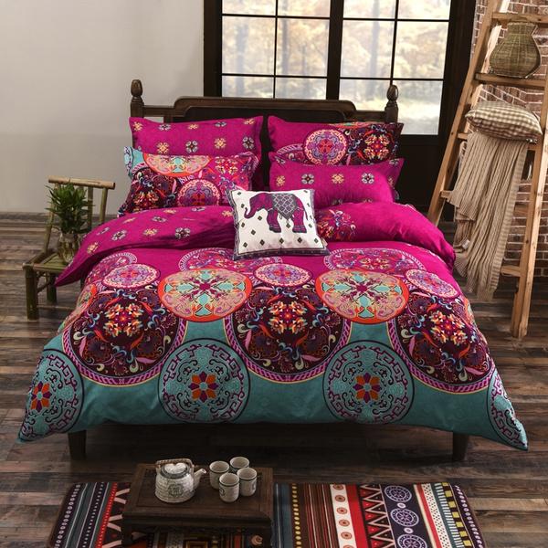 Bohemian Bedding Set Boho Duvet Cover, Boho Bedding Queen Size