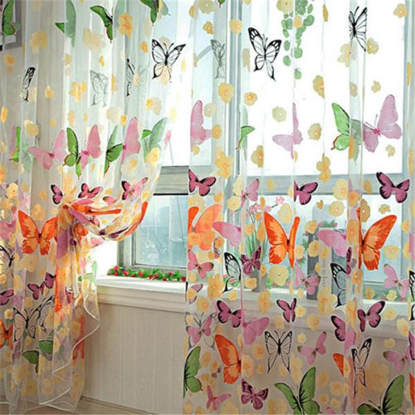 butterfly, curtainsdrapesvalance, livingroomwindowcurtain, Window Treatments & Hardware