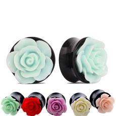 Flowers, Jewelry, earexpander, unisex