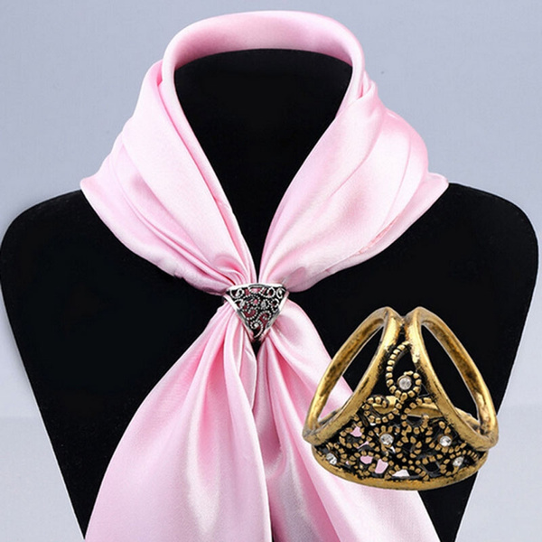 Fashion, silkscarfbuckle, Hollow-out, scarfbrooch