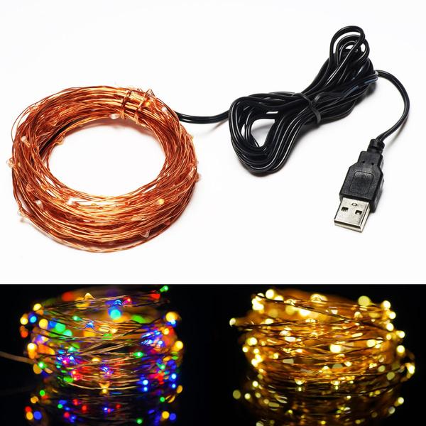 Copper, usb, usb5v10m100ledstringlight, lights