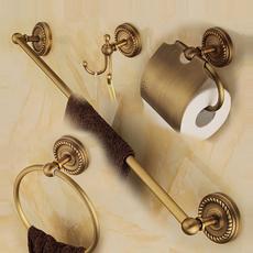 Brass, Bathroom, Home & Living, bathaccessoryset