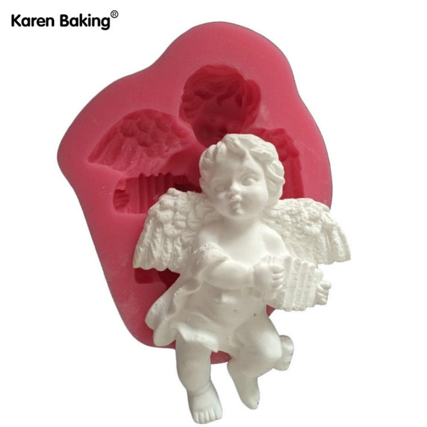 cute, kitchendiytool, fondantmold, Angel