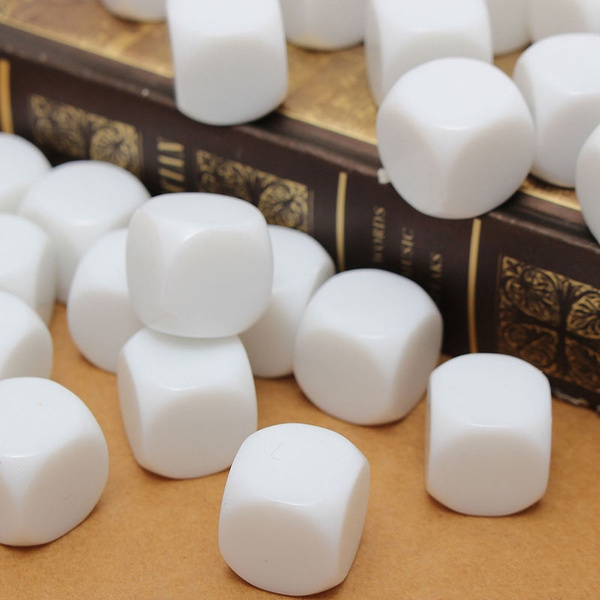 10pcs 16mm blank white can write dice counting cubes square gaming dicRSZ8