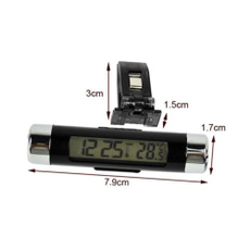 Clock, Cars, Thermometer, Practical