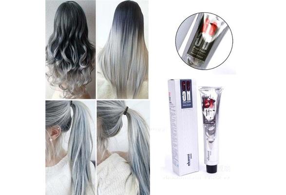 1pc 100ml Permanent Super Hair Dye Cream Gray Color Color Grey Wish