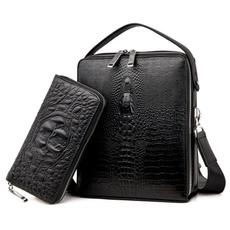 crocodilemessengerbag, Shoulder Bags, newcrocodilemenbag, Capacity