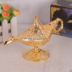 aladdinmagiclamp, golden, vintageretro, goldenlamp