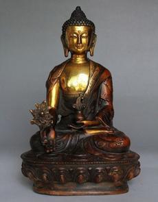 Brass, old, cm, sakyamuni