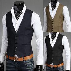 sleeveless, Vest, Men, Dress