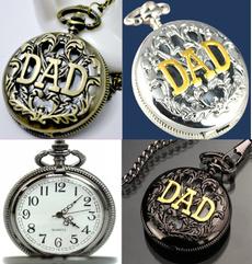 dad, Pocket, Chain Necklace, quartz