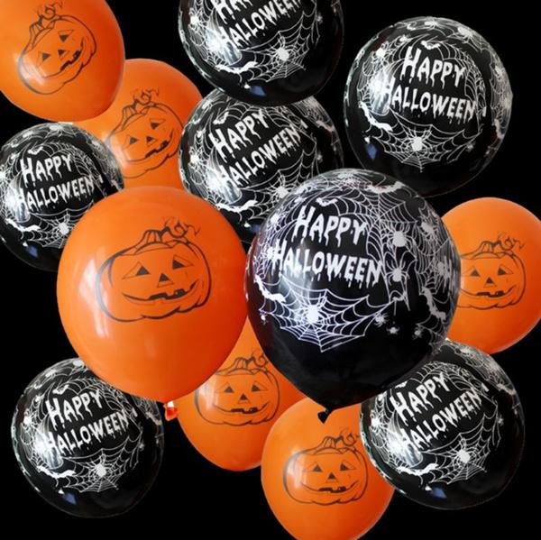 happyhalloween, spiderwebballoon, halloweenballoon, Balloon