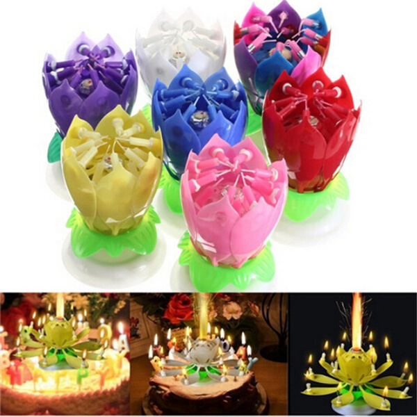 Beautiful, birthdaycandle, Flowers, candlelight