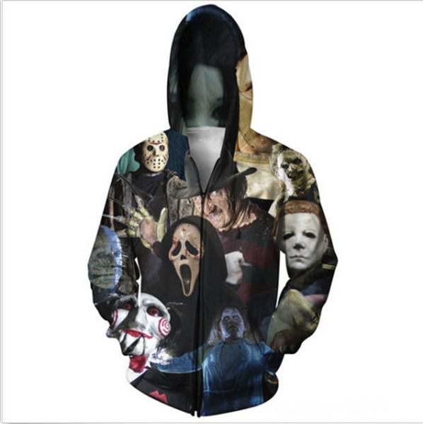 3dprintsweatshirt, Sweatshirts & Hoodies, Horror, Print Sweatshirts