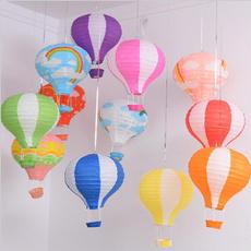 rainbow, Christmas, hanginglantern, hotairballoon