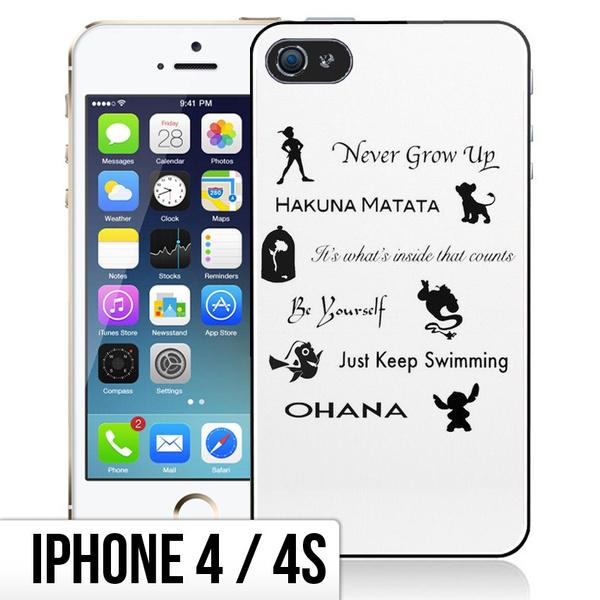 Coque iPhone 4/4S Citations Disney   Wish