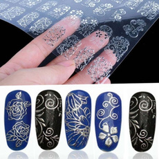 nail decoration, decoration, nail stickers, Flowers