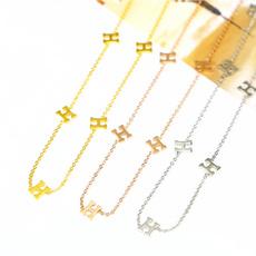 Steel, clavicle  chain, titanium steel, Jewelry