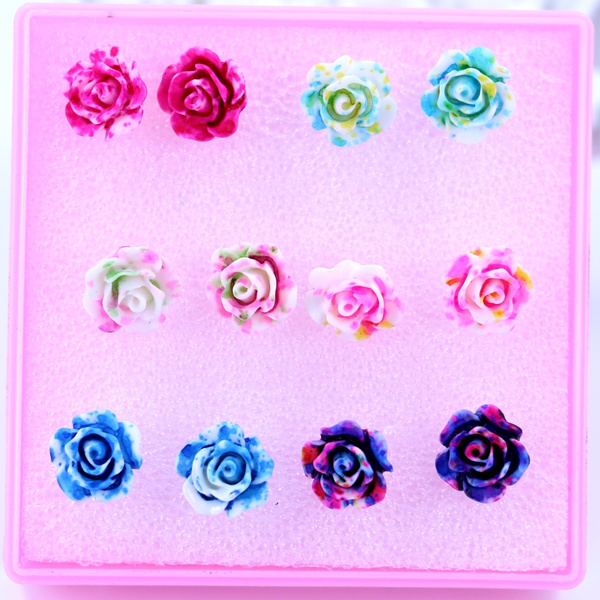 Flowers, multicolour, Jewelry, Colorful