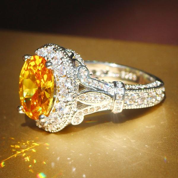 DIAMOND, 925 sterling silver, crownring, 925 silver rings