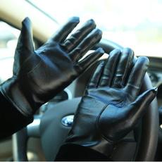 Moda, Invierno, Driving, leather