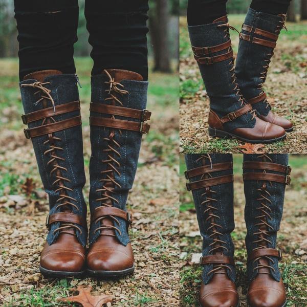 winter fashion, laceupshoe, Fashion, Leather Boots