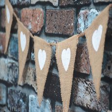 bunting, Heart, Decor, partybanner