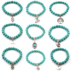 Charm Bracelet, Turquoise, Jewelry, Women jewelry