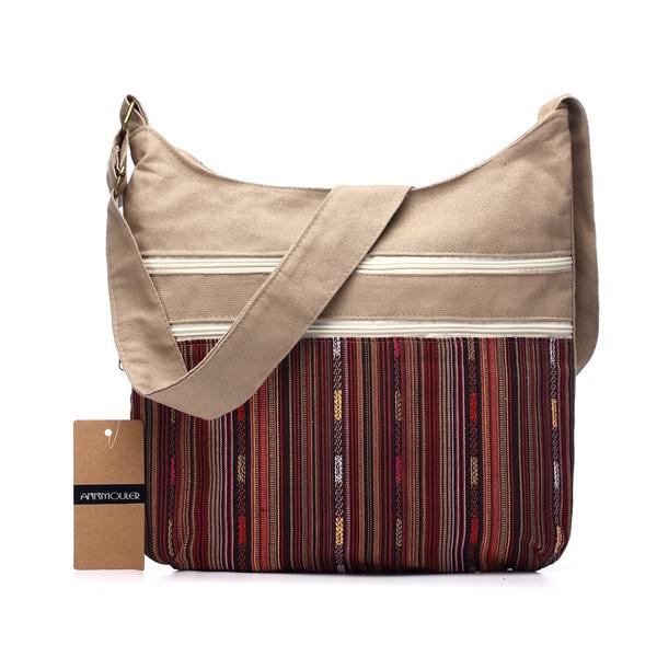 cottonbag, women's shoulder bags, bohemianstylelaundrybag, Fashion