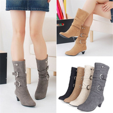 ankle boots, winterbootsforwomen, Plus Size, Leather Boots