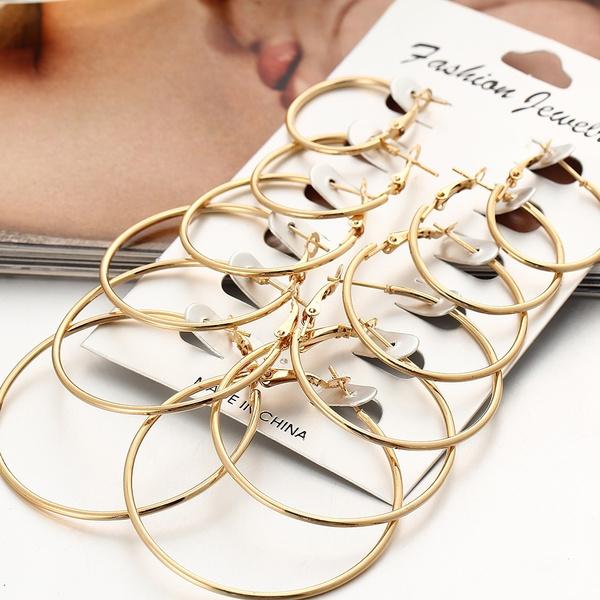 Beautiful, Jewelry Set, Design, Hoop Earring