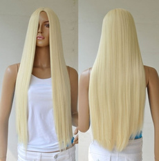 wig, longstraighthairfullwig, naturalcolorstylewig, Cosplay