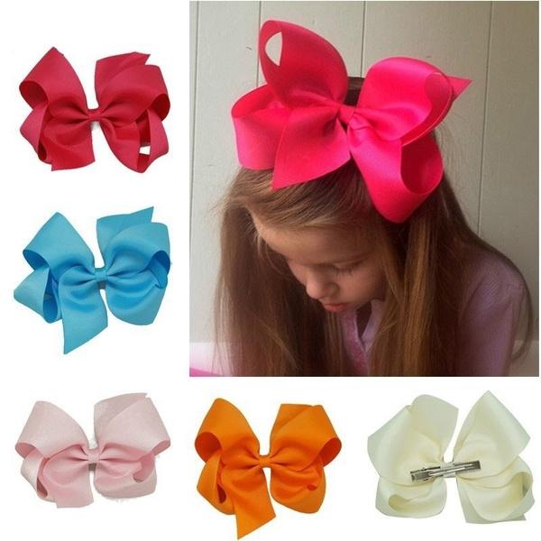 girlshairpin, hairclipstie, Clip, ribbonhairbow