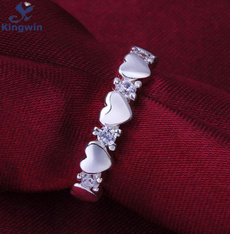 Sterling, crystal ring, lover gifts, Silver Ring
