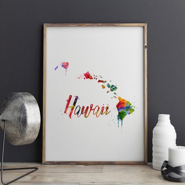 art print, Home & Kitchen, Decor, usamap