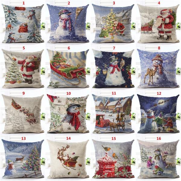Christmas Decoration, Decor, linenpillow, Christmas